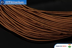 Smooth stiff gimp wire bronze 1mm, 1m