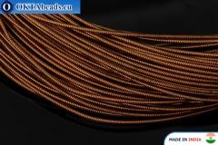 Smooth stiff gimp wire bronze 1mm, 1m W0007