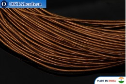 Smooth stiff gimp wire bronze 1mm, 1m W0007