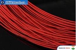Smooth stiff gimp wire red 1mm, 1m W0077