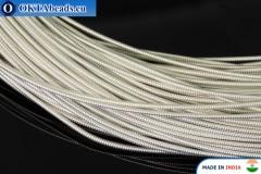 Smooth stiff gimp wire silver 1mm, 1m W0005