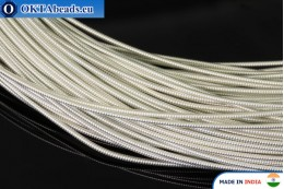 Smooth stiff gimp wire silver 1mm, 1m W0005