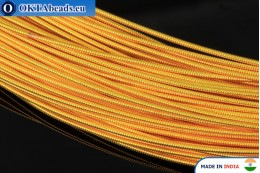 Smooth stiff gimp wire yellow 1mm, 1m W0008