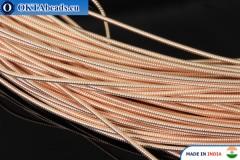 Smooth stiff gimp wire gold 1mm, 1m W0006