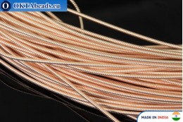 Smooth stiff gimp wire gold 1mm, 1m W0006