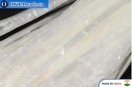 Рафия жемчужная белая 5мм, 1м W0029