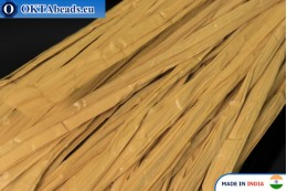 Рафия жемчужная бежевая 5мм, 1м W0056