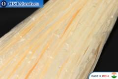 Perlová rafie béžová 5mm, 1m W0057