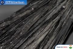 Рафия жемчужная черная 5мм, 1м