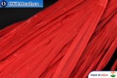 Perlová rafie červená 5mm, 1m W0054