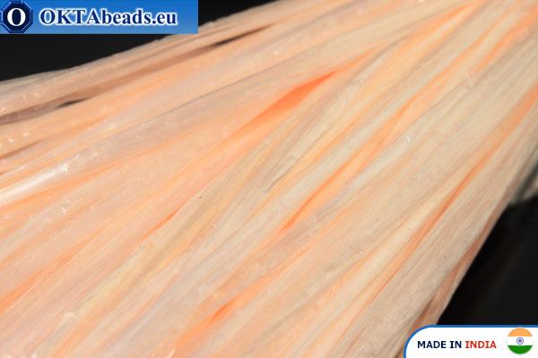 Рафия жемчужная розовая 5мм, 1м W0033