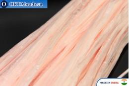 Рафия жемчужная розовая 5мм, 1м W0040