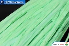 Рафия жемчужная зеленая 5мм, 1м
