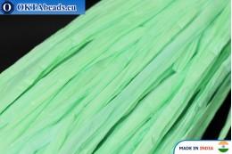 Рафия жемчужная зеленая 5мм, 1м W0049