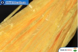 Рафия жемчужная желтая 5мм, 1м W0031