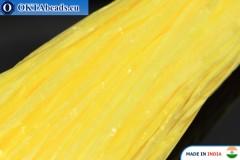 Pearl raffia yellow 5mm, 1m W0041