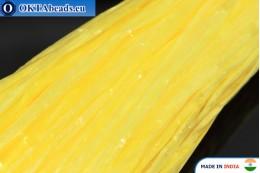 Рафия жемчужная желтая 5мм, 1м W0041