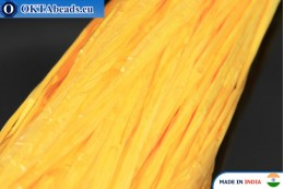 Рафия жемчужная желтая 5мм, 1м W0046