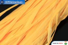 Pearl raffia yellow 5mm, 1m W0050