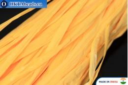 Рафия жемчужная желтая 5мм, 1м W0050