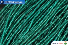 Soft gimp wire emerald 1mm, 5gr W0062