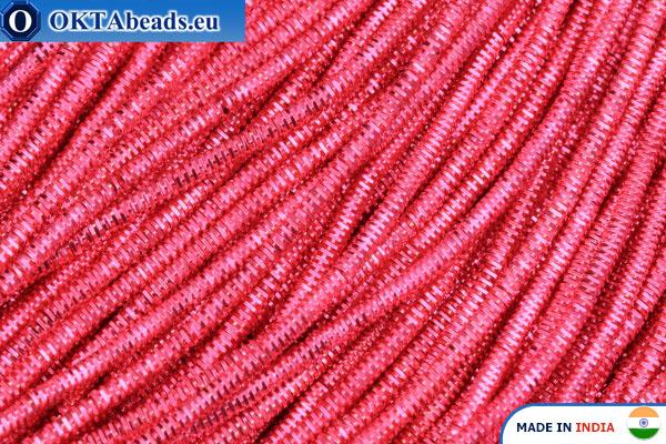 Francouzské drát měkký růžový 1mm, 5gr W0088