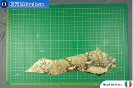 "Soft Calf Leather snake finished, ""python"" ~ 0,8mm, 11,6g XL0304"