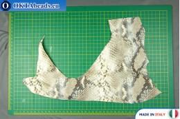 """Телячья кожа змеиное покрытие, """"питон"""" ~ 0,8мм, 26,3гр XL0285"""