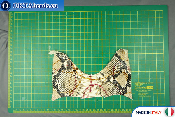 Soft Calf Leather snake finished, hard ~ 0,8mm, 13,4g XL0251