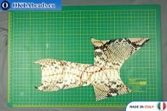 Soft Calf Leather snake finished, hard ~ 0,8mm, 15,1g XL0225
