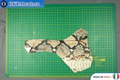 Soft Calf Leather snake finished, hard ~ 0,8mm, 15,2g XL0249