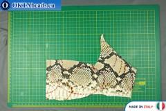 Soft Calf Leather snake finished, hard ~ 0,8mm, 15,4g XL0231