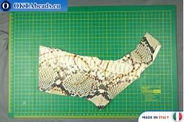 Soft Calf Leather snake finished, hard ~ 0,8mm, 18,8g XL0224