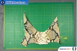 Телячья кожа змеиное покрытие, жесткая ~ 0,8мм, 19,2гр XL0254