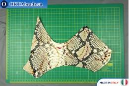 Soft Calf Leather snake finished, hard ~ 0,8mm, 20,4g XL0223