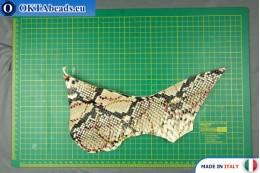 Телячья кожа змеиное покрытие, жесткая ~ 0,8мм, 20,5гр XL0252
