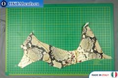 Soft Calf Leather snake finished, hard ~ 0,8mm, 20g XL0228