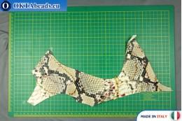 Телячья кожа змеиное покрытие, жесткая ~ 0,8мм, 20гр XL0228