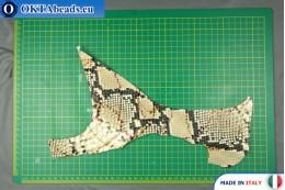 Телячья кожа змеиное покрытие, жесткая ~ 0,8мм, 20гр XL0250