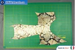 Телячья кожа змеиное покрытие, жесткая ~ 0,8мм, 21,9гр XL0229