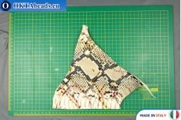 Телячья кожа змеиное покрытие, жесткая ~ 0,8мм, 22,1гр XL0233