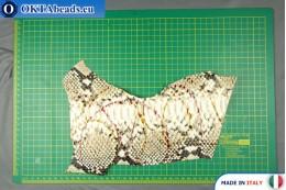 Телячья кожа змеиное покрытие, жесткая ~ 0,8мм, 23,4гр XL0242