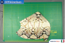 Телячья кожа змеиное покрытие, жесткая ~ 0,8мм, 24,3гр XL0238
