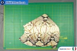 Soft Calf Leather snake finished, hard ~ 0,8mm, 24,3g XL0238