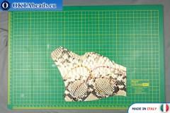 Telecí kůže hadí povrch, pevná ~ 0,8mm, 16g