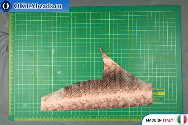 Telecí kůže hadí povrch ~ 0,8mm, 19g XL0269