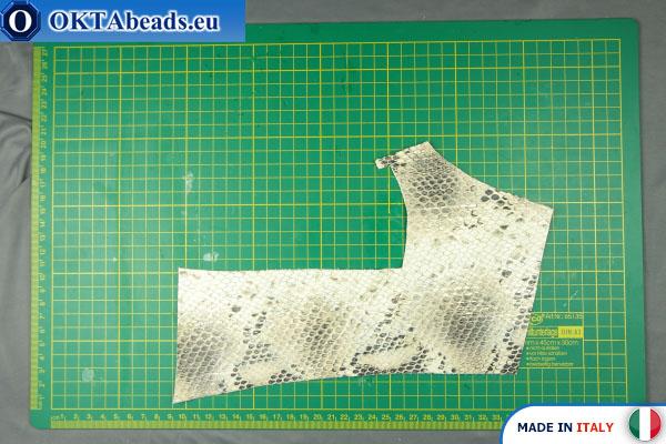 Telecí kůže hadí povrch ~ 0,8mm, 25,6g XL0259