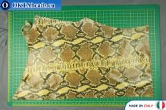 Телячья кожа змеиное покрытие ~ 0,8мм, 43,8гр XL0280