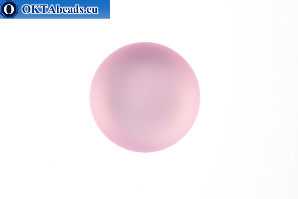 Lunasoft cabochon Light Rose 12mm