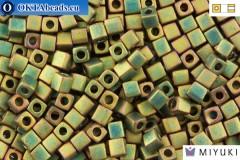 MIYUKI Square Beads Matte Metallic Khaki Iris (2035) 4mm